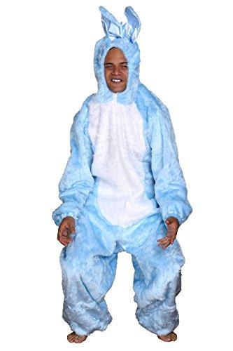 Hasenkostüm blau Plüschkostüm Tierkostüm Hase Bunny Kostüm (Large) (Bein Lampe Halloween Kostüm)