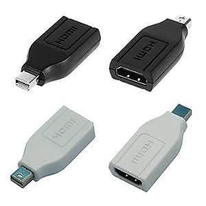 KLM Mini DisplayPort vers HDMI foudre adaptateur femelle pour MacBook Air / Microsoft Surface Pro 2/3 / dell xps , White