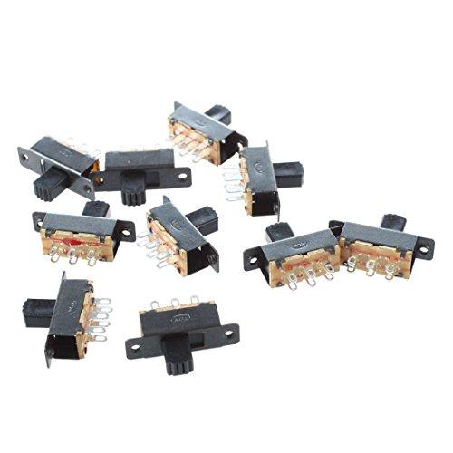 toogoor-10-pcs-ss22f25-g7-2-position-dpdt-2p2t-montage-panneau-mini-interrupteur-a-glissiere-solder-