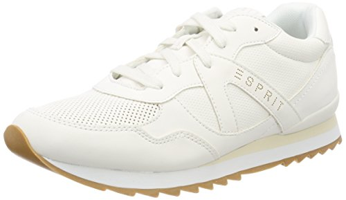 ESPRIT Damen Astro Lace up Sneaker, Weiß (White), 42 EU