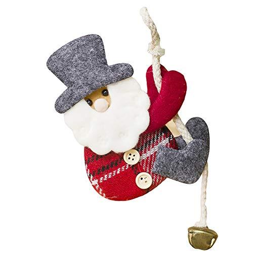 Recoproqfje Jingle Bell Poupée de Noël Suspendue pour Sapin de Noël Xmas Home Party Decor, Tissu, A