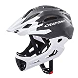 Cratoni Downhill Helm C-Maniac, Black-White Matt, Gr. L-XL (58-61 cm)