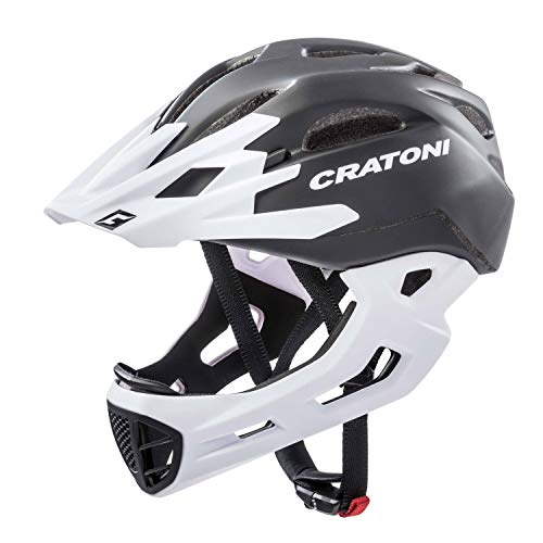 Cratoni Downhill Helm C-Maniac, Black-White Matt, Gr. L-XL (58-61 cm)