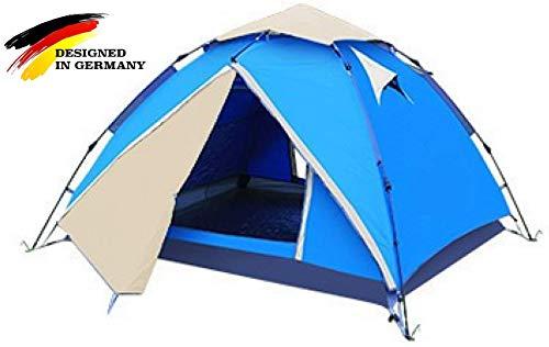 """Aretus NEU Eagle Tent\"""" großes Pop Up Wurfzelt 2 3 4 Personen Zelt - mit Vorzelt - Wasserdicht 2 Fach Belüftet - UV-Schutz - Für Camping Festival mit 2 in 1 Funktion - ruck zuck aufgebaut"""