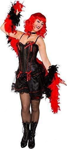 Schwarz Mädchen Saloon Burleske Tänzer West Henne Do Abend Party Kostüm Kleid Outfit - Schwarz, UK 8-10 ()