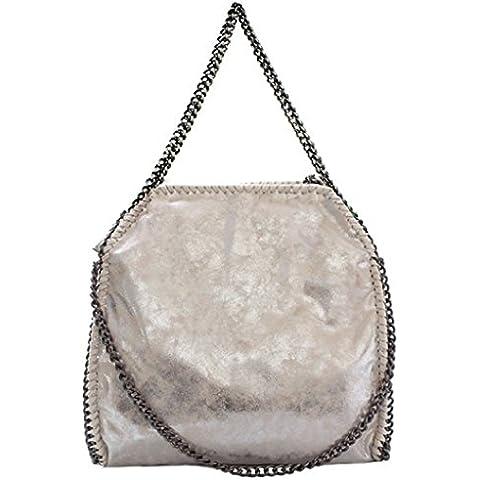 GetThatBag® Vienna Falabella bolsa de asas La bolsa de hardware de plata cadena de las mujeres - Rojo / Negro / Beige / Marrón / Azul