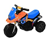 #5: Brunte Turbo Battery Operated Sports Bike Orange Blue With Light And Sound