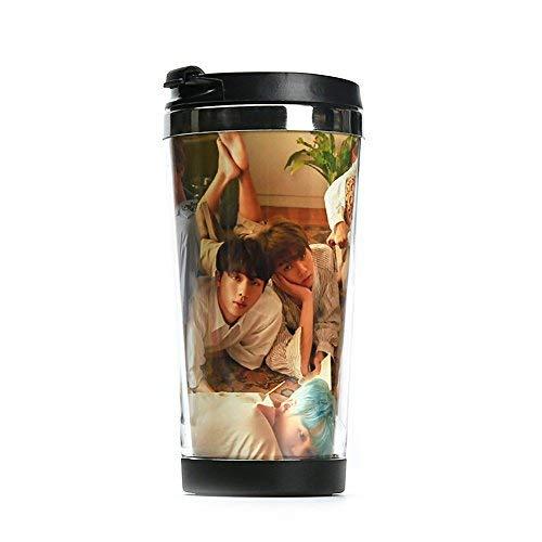 Bosunshine 480-Lovely BTS Bangtan Jungen Sommer Farbverlauf Milchglas Lemon Wasser Flasche Cup Double Stainless Steel