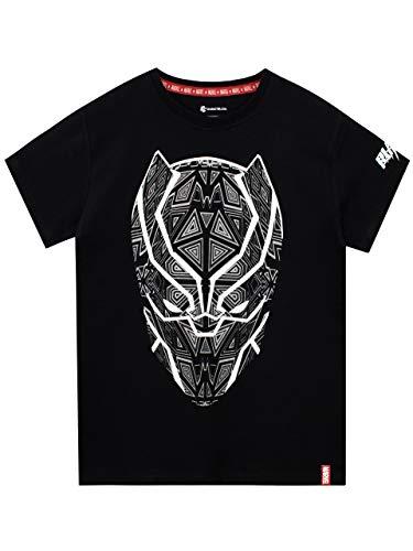 Marvel Black Panther Jungen T-Shirt Schwarz 152 (Black Panther-marvel Shirt)