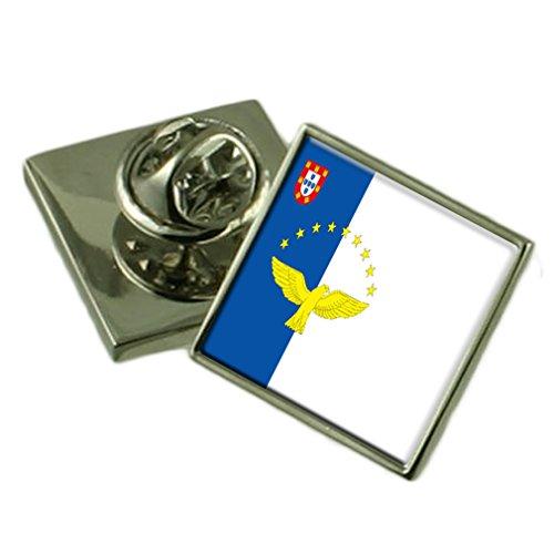 Preisvergleich Produktbild Die Azoren Flagge Anstecknadel Abzeichen Massiv Silber 925