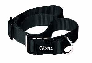Canac Adjustable Dog Collar, 25 mm x 60 cm, Black