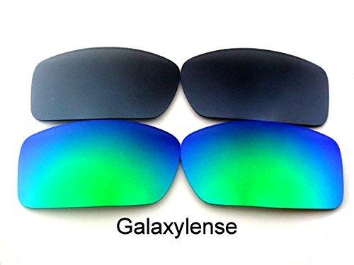 Galaxylense Ersatzgläser für Oakley Gascan grün & grau Farbe Polarisierend 2 Paar,GRATIS S & H - grün & grau, regular