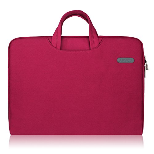 Arvok 15 15,6 Pollici Sleeve per Laptop / MacBook Air / MacBook Pro / MacBook Pro con display Retina / Resistente all'acqua Borsa per pc portatile con Manico e Zip / Borsa da Trasporto per Laptop / Custodia per Notebook/Ultrabook/Tablet Acer, Asus, Dell, Lenovo, Samsung, HP, Sony, Toshiba (15.6-Pollici, Vino Rosso)