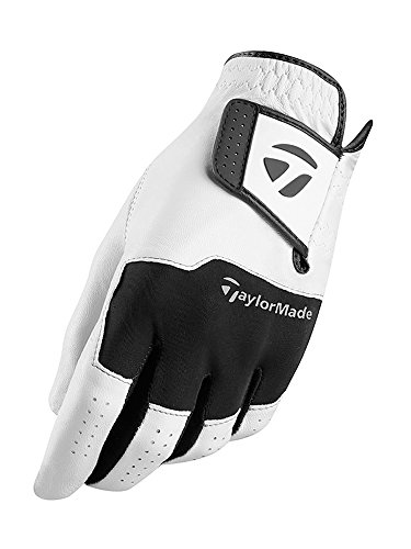 TaylorMade Golf 2018 Stratus Leder Herren Atmungs Golfhandschuh Pack Von 1 Linke Hand Medium (Pack Leder Tour)