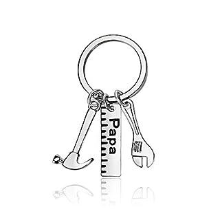 Herren Geschenk Lineal Schlüssel Hammer Werkzeug Charms Schlüsselanhänger Ring My Dad Can Fix Anything Father 's Day, Papa