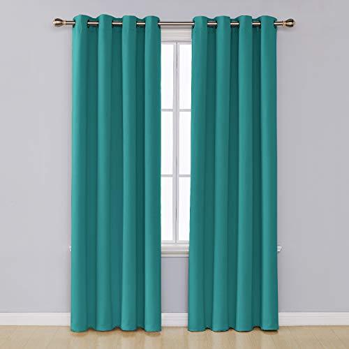 Umi. essentials tende 2 pezzi oscuranti termiche isolanti coprente con occhielli per casa moderne 117x229cm turchese