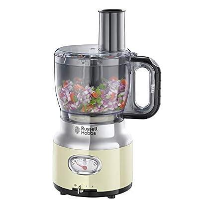 Russell-Hobbs-25182-56-Food-Processor-Retro-Vintage-Cream-2-Geschwindigkeitsstufen-Impuls-Ice-Crush-Funktion-850-Watt-Standmixeraufsatz-Edelstahlscheibe-zum-SchneidenRaspeln-Edelstahlcreme