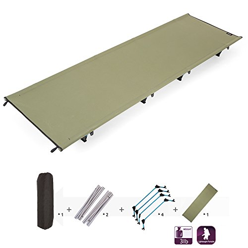 Lixada Outdoor Folding Bed,Portable Camping Cot,Lightweight Camping Sleeping Bed,Water Resistanst Moisture Proof Camping Tent Mat for Indoor Outdoor Camping Hiking Fishing