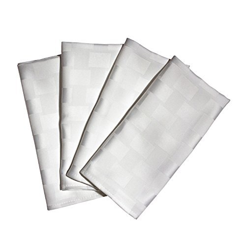 Bardwil Reflections Spill Proof Set Of 4 Napkins, White by Bardwil Bardwil Set