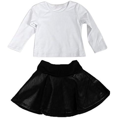 Kingko® 3 pezzi di Natale Ragazza neonato vestiti pagliaccetto Tuta scaldino Outfits regalo (18 mesi)