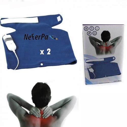 Almohadilla electrica calor espalda y cuello 3 niveles temperatura 60W 40x32cm