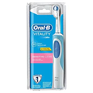 oral b vitality sensitive clean brosse dents lectrique rechargeable minuteur int gr. Black Bedroom Furniture Sets. Home Design Ideas