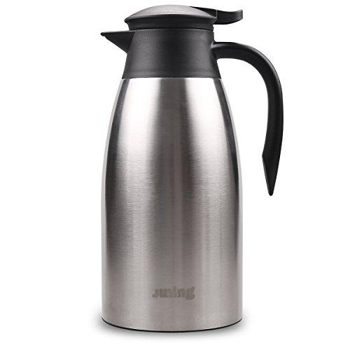 Oliying 2 Liter Isolierkanne aus Edelstahl, Elegantes Design, doppelwandige Isolierung, Kaffee, Tee,...