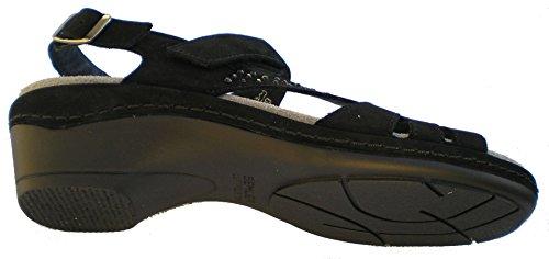 Semler H2225-040-001 Heidi femmes Sandales largeur H pour Semelles en vrac Noir
