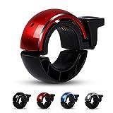 Fahrradklingel Laut,ESMK O Design Fahrradglocke Radfahren Fahrrad für Alle Fahrrad (4 Farben,Lenker Alarm Horn Ring 22.2-24mm)-Rot