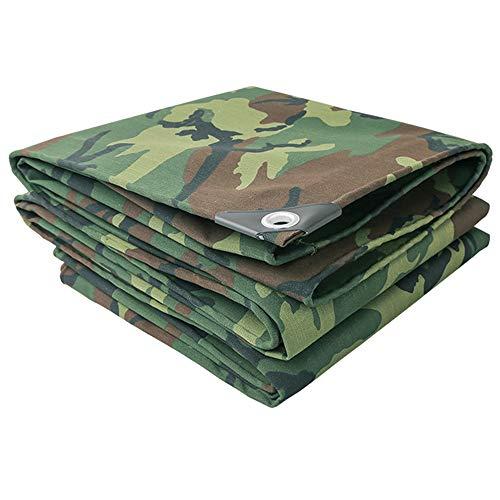 LJFPB Bache De Protection de Plein air Bâche de Camouflage Résistant au Froid Résistant à l'usure Épaississant Toile imperméable 500 g/mètre carré 0,7 mm Vert (Taille : 3x3m)