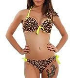Toocool - Costume Donna Bikini da Bagno Moda Mare Piscina Swimwear  Leopardato Sexy KL2037  44 2b2fae6f981