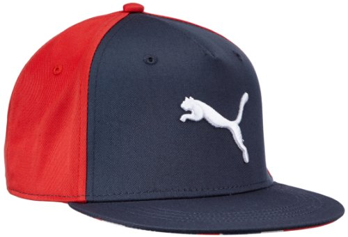 Puma Tween Graphic - Cappello da bambino, visiera piatta, Grigio (Ombre Blue /high Risk Red), Taglia unica