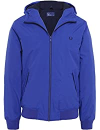 Fred Perry Hommes Hooded Jacket Brentham Bleu