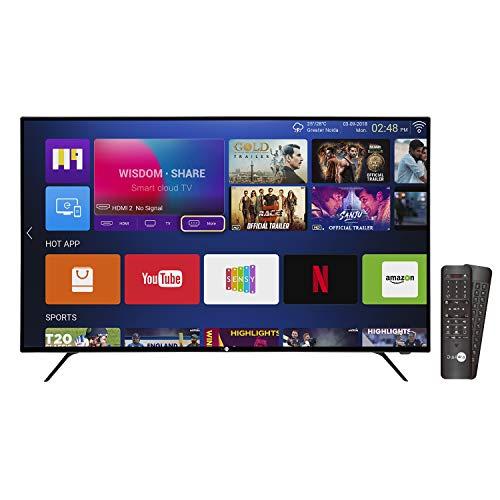 Daiwa 109 cm (43 inch) 4K UHD Quantum Luminit LED Smart TV with HDR 10 D43QUHD-N53 (Black) (2018 Model)