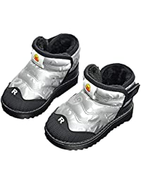 Botas de Nieve para niños Invierno cálido Botas de Lluvia para niños al Aire Libre Botas de Lluvia de Felpa Antideslizantes Impermeables Zapatos de algodón para bebés Zapatos para bebés pequeños