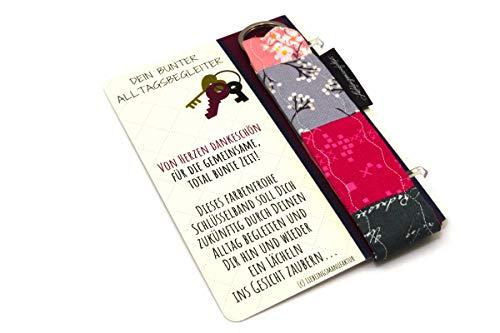 Lieblingsmanufaktur Geschenk für Erzieherin im Kindergarten - von Herzen Dankeschön - Schlüsselanhänger mit Karte & Botschaft - zum Abschied danke sagen - persönliches Abschiedsgeschenk für Erzieher