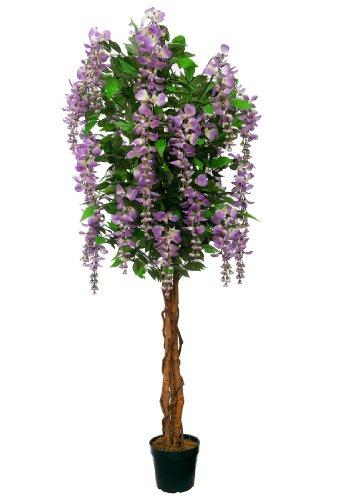 Blauregen 1,50 m künstlich Kunstbaum Kunstpflanze Echtholzstamm