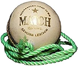 Tima White Leather Practice Hanging Cricket Ball