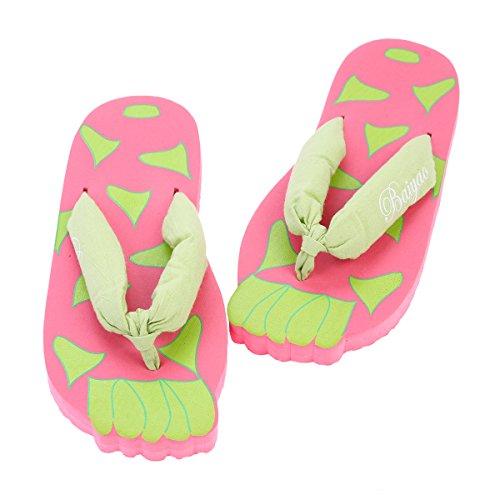 Damara Damen Hellfarbig Flip-Flops Mit Kindlich Muster Hellpink