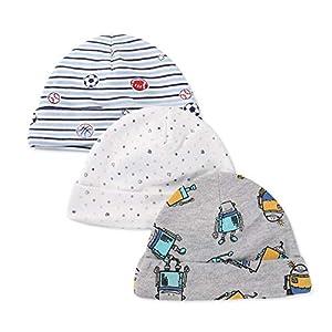 LACOFIA Sombrero de Beanie de algodón para bebé niñas y niños de recién Nacido Unisex Gorro Nudo de Las bebé de Esencial… 14
