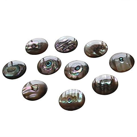 Surfen 100Saxophon Finger Button Perle echten Abalone Shell Durchmesser