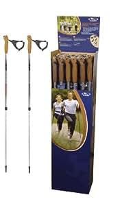 Hudora 1 paire de bâtons de marche nordique télescopiques Longueur 81 140 cm