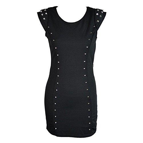 Poizen Industries -  Vestito  - Astuccio - Senza maniche  - Donna nero Large
