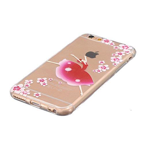AllDo Coque iPhone 6 iPhone 6S Coque Transparente Etui TPU Silicone Housse Souple de Protection Couverture Extrêmement LègerCas Mince Coque Lisse Couverture Haute Qualité Soft Case Coquille Anti Rayu Fille de Danse