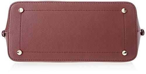 Trussardi Jeans Ischia Dome, Borsa a Mano Donna, 38 x 38 x 16 cm (W x H x L) Rosso (Bordeaux/Black)