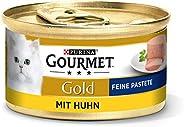 PURINA GOURMET guld fin pasta kattfoder vått, med kyckling, 12-pack (12 x 85 g)