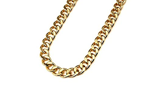 Set von 2 – Herren Vergoldet Iron Cuban 61 cm 4 mm Chunk ychain Hip Hop Bling Ketten