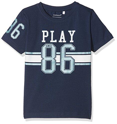 NAME IT Baby-Jungen T-Shirt Nmmdaplay SS Top, Blau (Dress Blues), 92