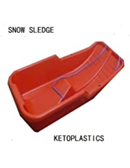 Snow Sledge/ Sled Red Toboggan (Made In Uk)