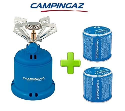 ALTIGASI Réchaud à gaz Camping 206 S Stove Camping Puissance 1,230 W - Poids 280 grammes + 2 pièces Cartouche C206 GLS de 190 grammes